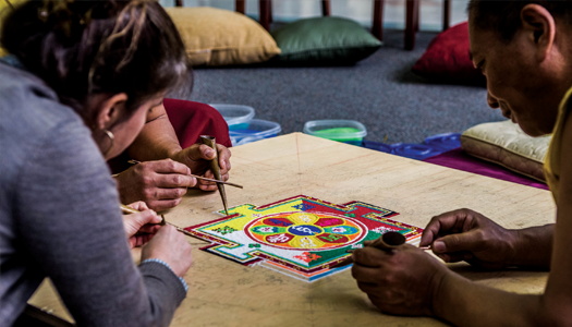 Sand Mandala Creation at Peace Week