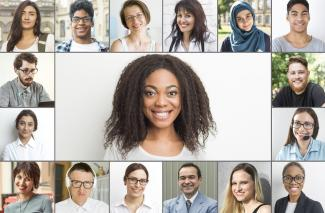 Collage of people of diversity