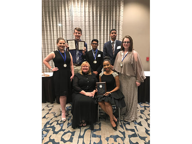 Group of Phi Beta Lambda award winners